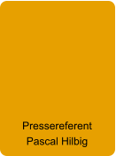 Pressereferent Pascal Hilbig
